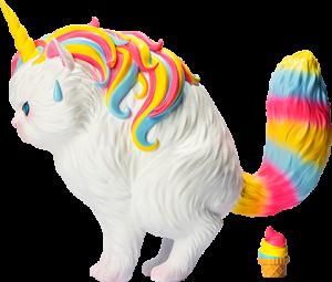 Unicat (Rainbow Ice-Cream) Vinyl Collectible
