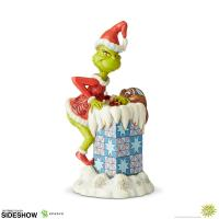 Gallery Image of Grinch Climbing in the Chimney Figurine