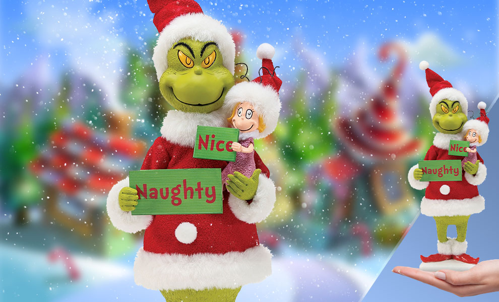 Gallery Feature Image of Grinch Naughty or Nice Figurine - Click to open image gallery