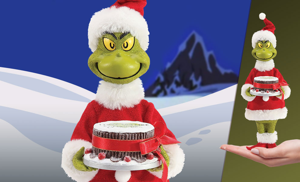 Gallery Feature Image of Grinch Fruitcake Figurine - Click to open image gallery