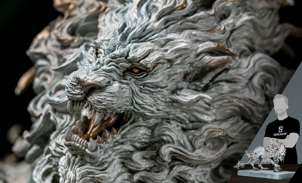 Gallery Feature Image of Rugged Lion (Light) Statue - Click to open image gallery