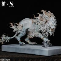 Gallery Image of Rugged Lion (Light) Statue