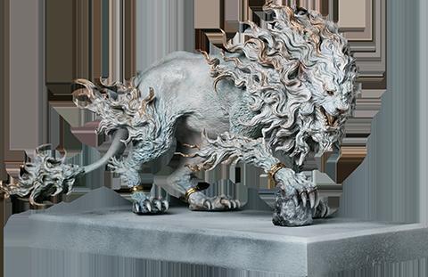 Manas SUM Rugged Lion (Light) Statue