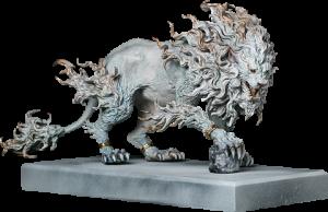 Rugged Lion (Light) Statue
