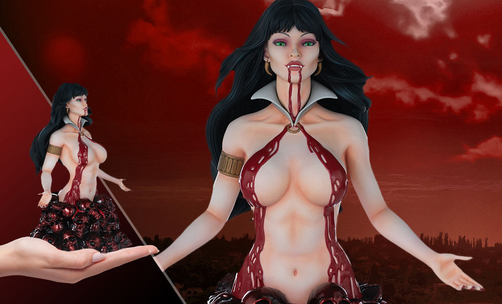 Gallery Feature Image of Vampirella (Red Reign Variant) Bust - Click to open image gallery