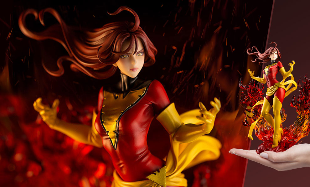 Gallery Feature Image of Dark Phoenix Rebirth Statue - Click to open image gallery