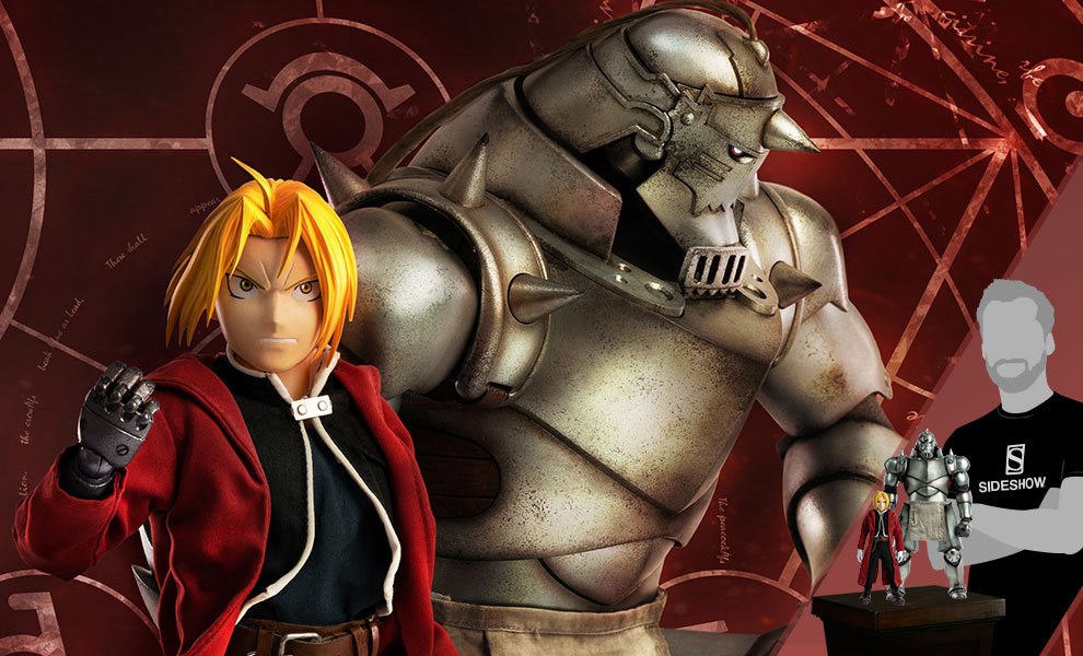 Gallery Feature Image of Alphonse Elric & Edward Elric (Twin Pack) Sixth Scale Figure Set - Click to open image gallery