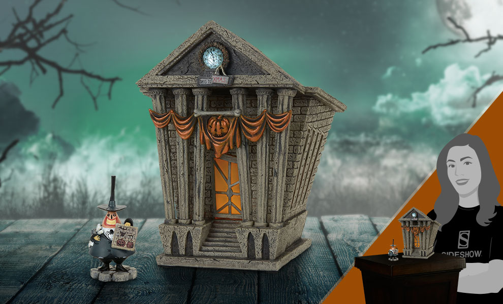Gallery Feature Image of Halloween Town City Hall Figurine - Click to open image gallery