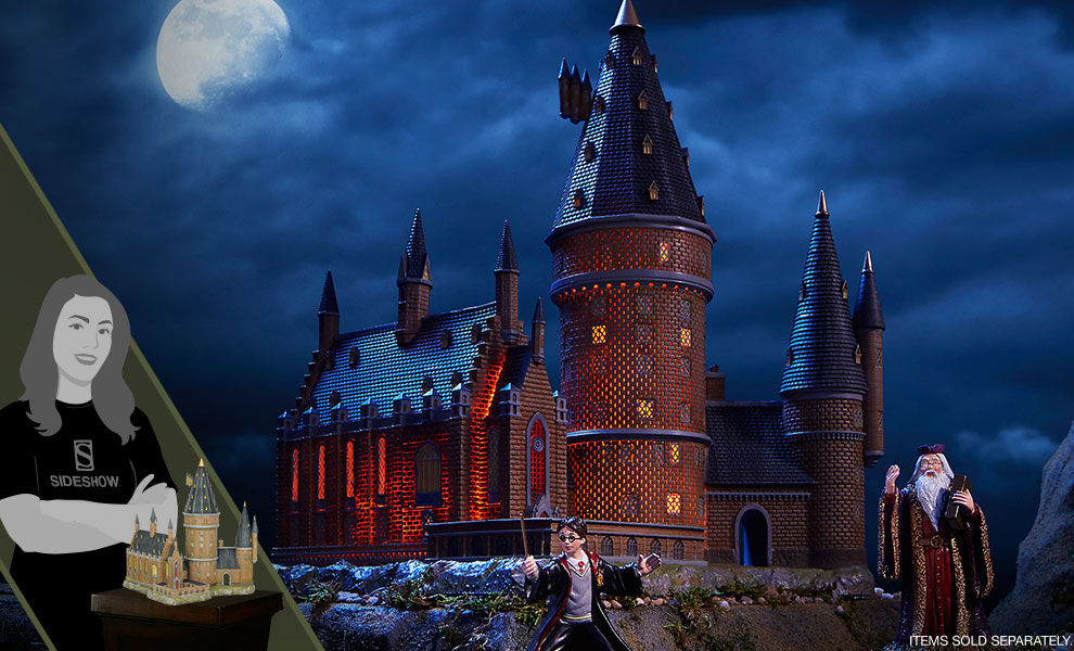Gallery Feature Image of Hogwarts Great Hall & Tower Figurine - Click to open image gallery