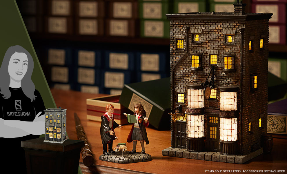 Gallery Feature Image of Ollivanders Wand Shop Figurine - Click to open image gallery