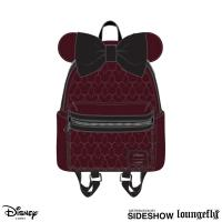Gallery Image of Minnie Velvet Bow Quilted Mini Backpack Apparel