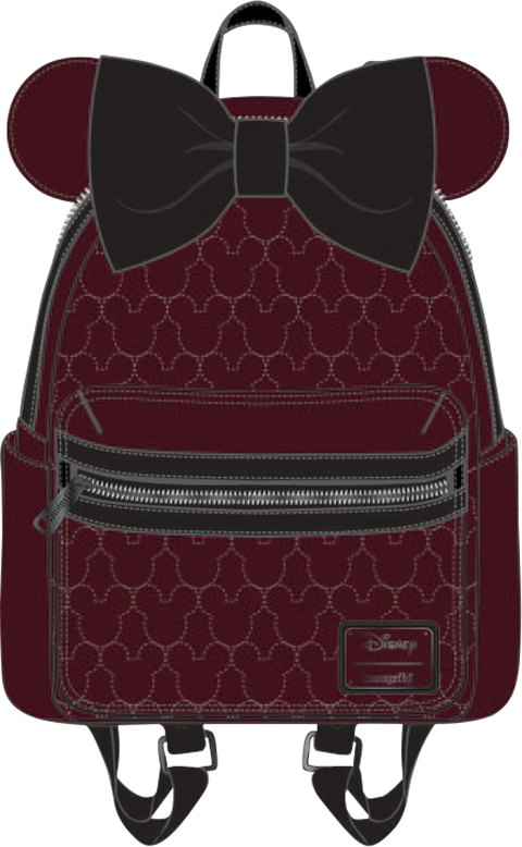 Loungefly Minnie Velvet Bow Quilted Mini Backpack Apparel