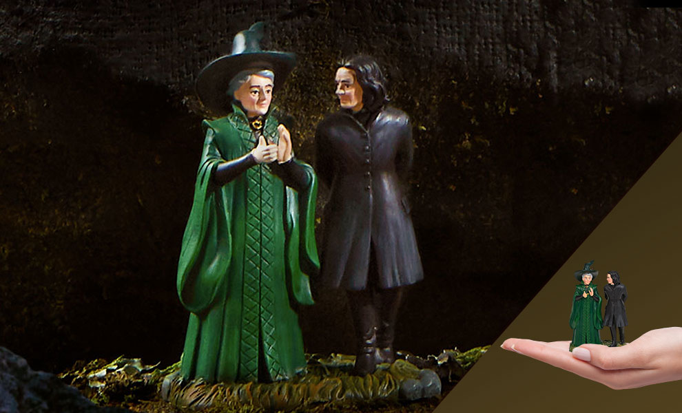 Gallery Feature Image of Snape & McGonagall Figurine - Click to open image gallery