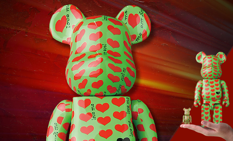 Gallery Feature Image of Be@rbrick Green Heart 100% and 400% Collectible Set - Click to open image gallery