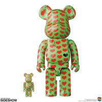 Gallery Image of Be@rbrick Green Heart 100% and 400% Collectible Set