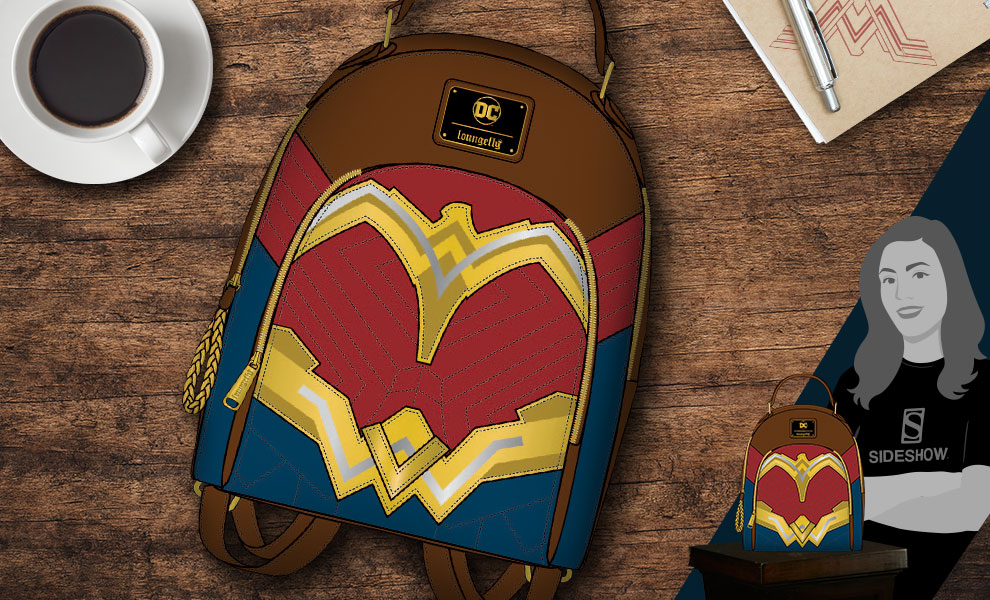 Gallery Feature Image of Wonder Woman Mini Backpack Apparel - Click to open image gallery