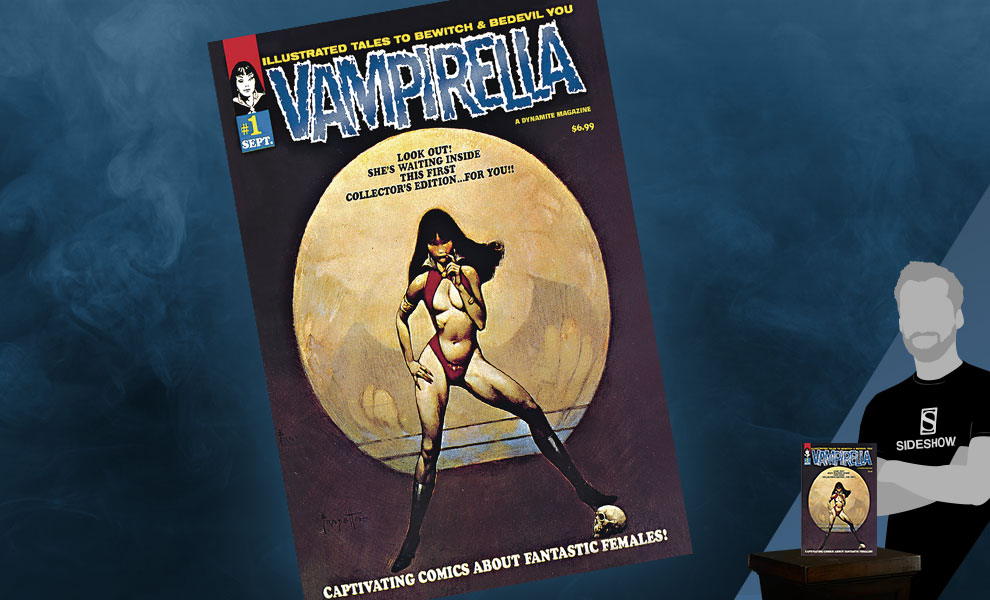 Gallery Feature Image of Vampirella #1 (1969) Limited Blue Foil Version Book - Click to open image gallery