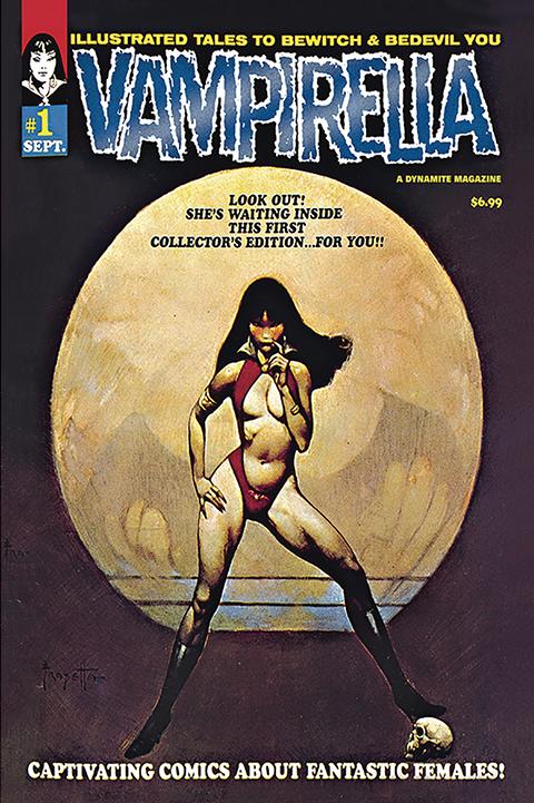 Dynamite Entertainment Vampirella #1 (1969) Limited Blue Foil Version Book
