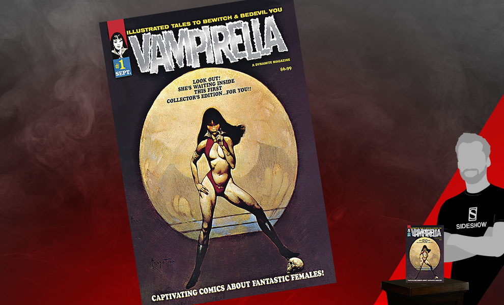 Gallery Feature Image of Vampirella #1 (1969) Limited Platinum Foil Edition Book - Click to open image gallery