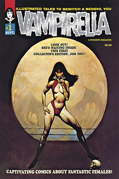 Dynamite Entertainment Vampirella #1 (1969) Limited Platinum Foil Edition Book
