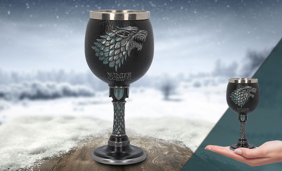 Gallery Feature Image of Winter is Coming Goblet Collectible Drinkware - Click to open image gallery
