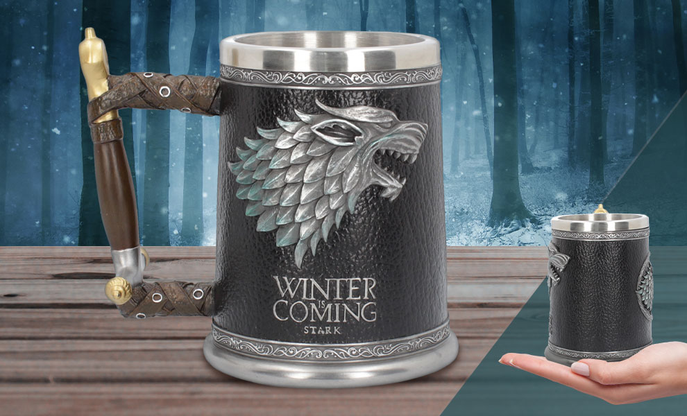 Gallery Feature Image of Winter is Coming Tankard Collectible Drinkware - Click to open image gallery