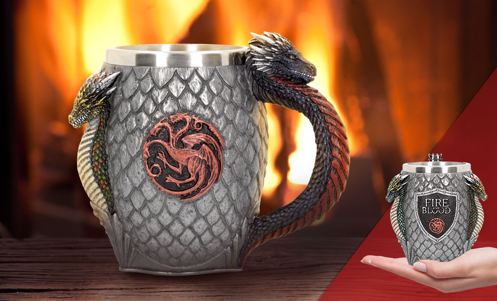 Gallery Feature Image of House Targaryen Tankard Collectible Drinkware - Click to open image gallery