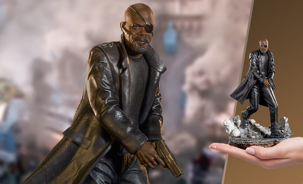 Gallery Feature Image of Nick Fury 1:10 Scale Statue - Click to open image gallery