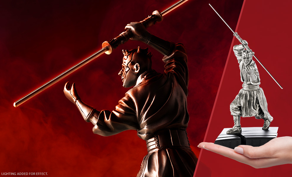 Gallery Feature Image of Darth Maul Figurine Pewter Collectible - Click to open image gallery