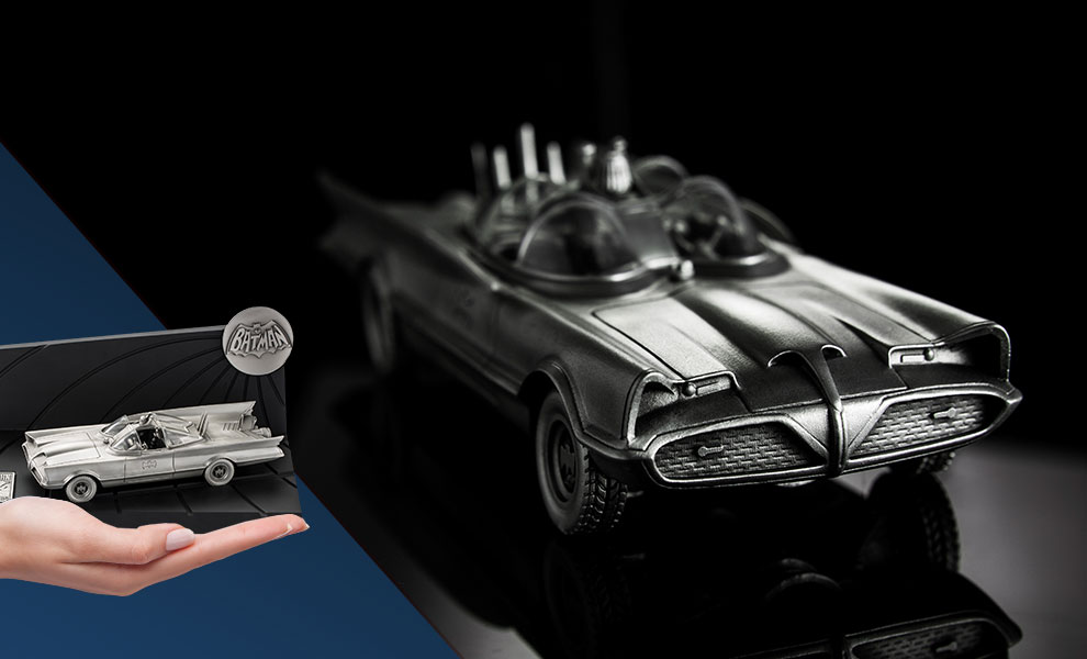 Gallery Feature Image of Batman 80th Classic Batmobile Replica Pewter Collectible - Click to open image gallery