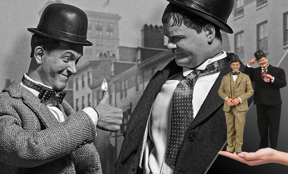 Gallery Feature Image of Stan Laurel and Oliver Hardy (Classic Suits) Box Set - Click to open image gallery