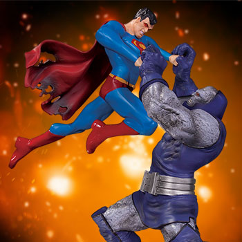 Superman vs Darkseid Battle DC Comics Statue