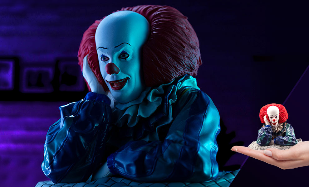 Gallery Feature Image of Pennywise (1990) Statue - Click to open image gallery
