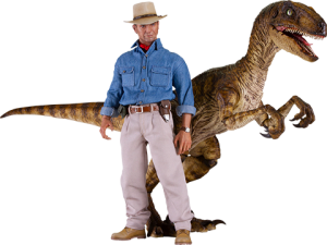 Dr. Alan Grant and Velociraptor Sixth Scale Figure Set