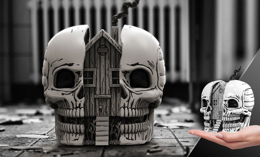 Gallery Feature Image of Skull House Polystone Statue - Click to open image gallery