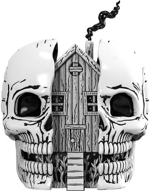 Mighty Jaxx Skull House Polystone Statue