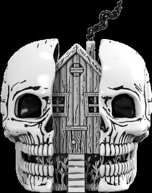 Skull House Polystone Statue
