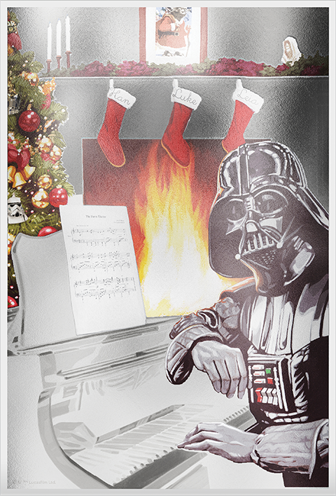 New Zealand Mint Star Wars Season's Greetings Silver Coin Note (2018) Silver Collectible