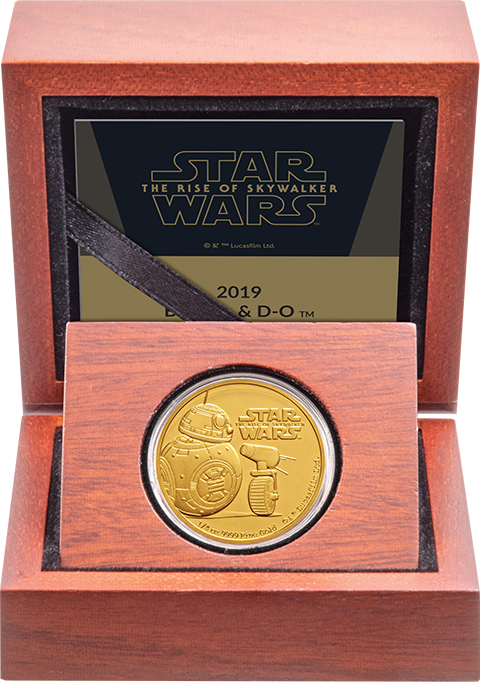 New Zealand Mint BB-8 & D-O Gold Coin Gold Collectible