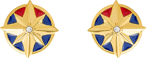 RockLove Captain Marvel Star Stud Earrings Jewelry