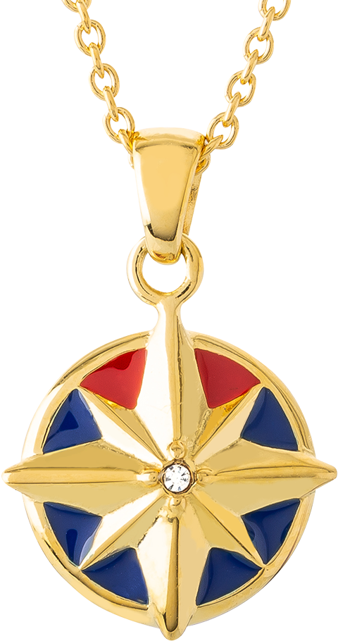 RockLove Captain Marvel Star Necklace Jewelry