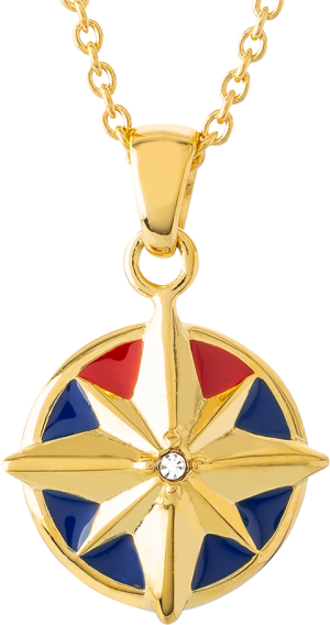 Captain Marvel Star Necklace Jewelry