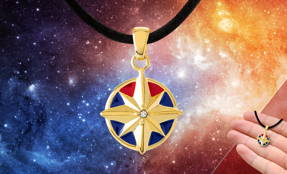Gallery Feature Image of Captain Marvel Star Choker Jewelry - Click to open image gallery