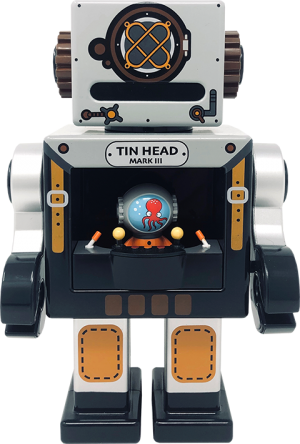 Tin Head Mono Collectible Figure