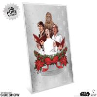 Gallery Image of Star Wars Season's Greetings Silver Coin Note (2019) Silver Collectible