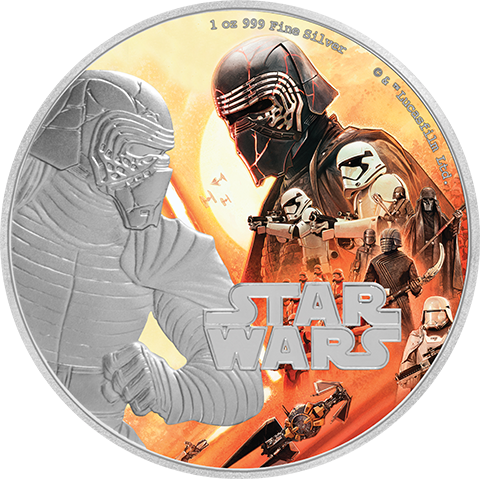 New Zealand Mint Kylo Ren Silver Coin Silver Collectible