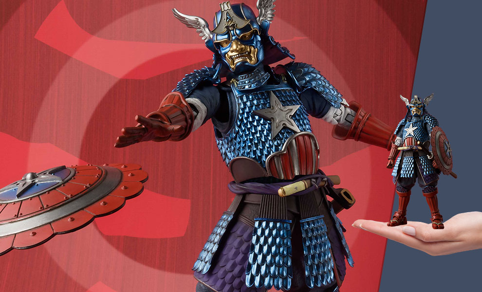 Gallery Feature Image of Samurai Captain America Collectible Figure - Click to open image gallery