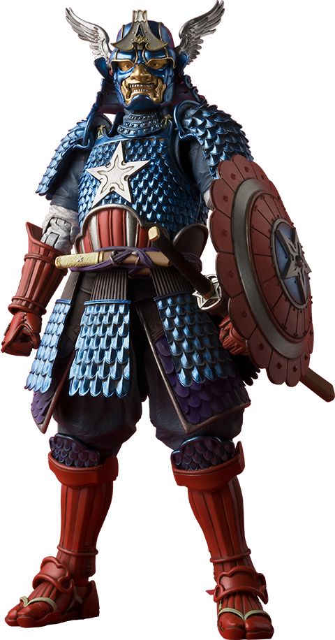 Bandai Samurai Captain America Collectible Figure