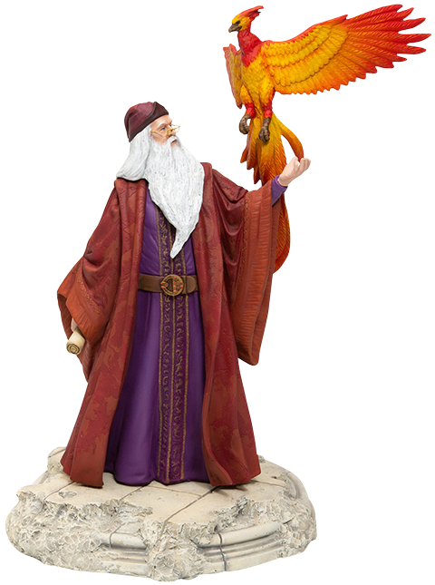 Enesco, LLC Dumbledore with Fawkes Figurine