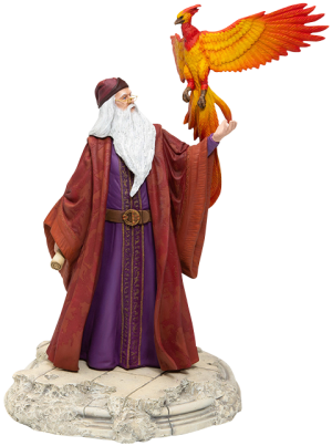Dumbledore with Fawkes Figurine